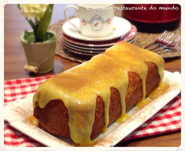Bolo de milho com calda de curau simplicidade no preparo, ou mesmo pelo o seu sabor inigualável