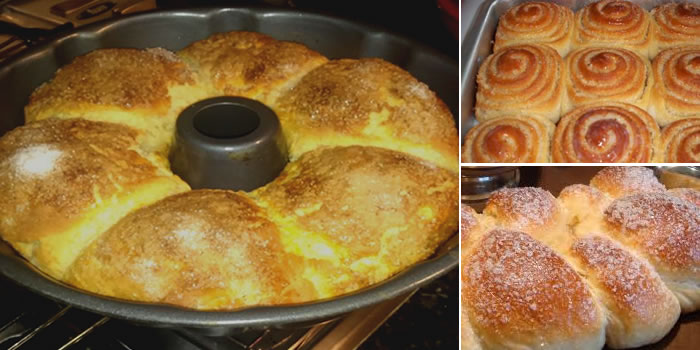 Top 2 Receitas de rosca doce – Uma com leite condensado na massa e outra com recheio e cobertura