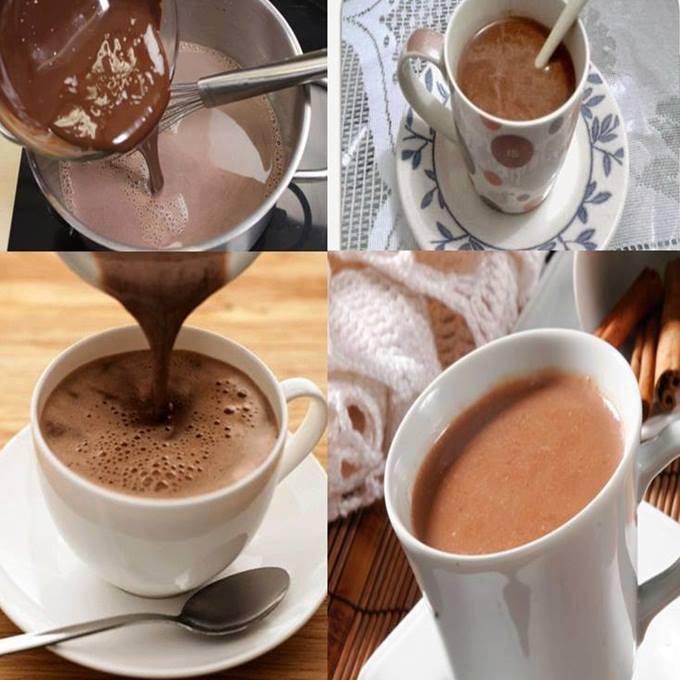 Chocolate quente com creme de leite
