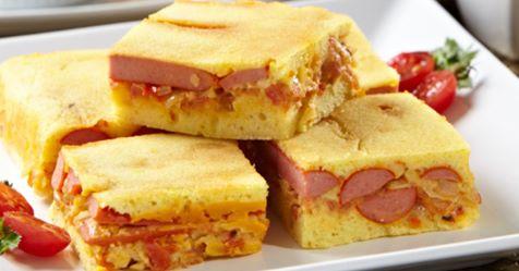 Cachorro-quente de forno: receita em formato de torta é diferente e deliciosa