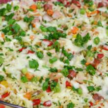 Aprenda  a fazer esse  delicioso arroz a grega.