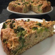 Jantar prático:Torta  salgada de frango e brócolis Low Carb