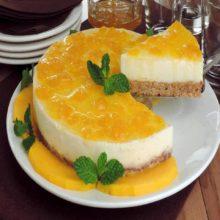 Uma sobremesa dos deuses ! Cheesecake de manga