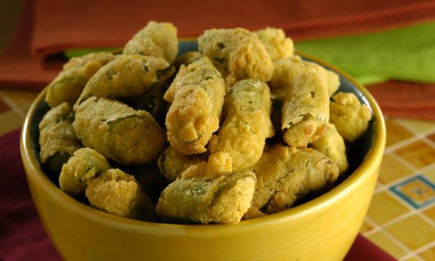 Aprenda a fazer um delicioso Quiabo frito .