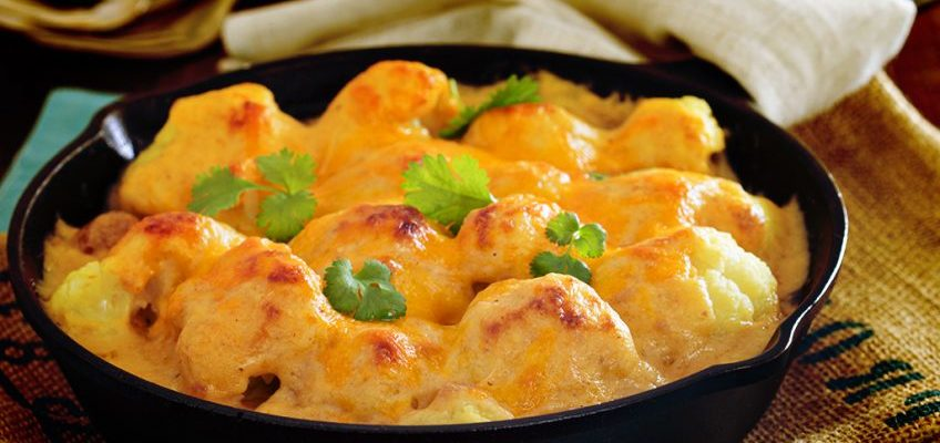 Opção deliciosa : Couve-flor gratinada com queijo