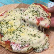 Pizza de frigideira mais fácil DO MUNDO, sério.Além de maravilhosa!!! Receita da massa: