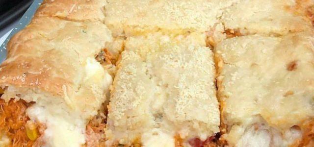 Torta de Frango com Queijo de liquidificador