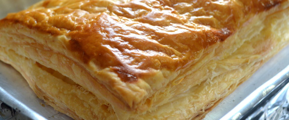 Torta Folhada de Palmito
