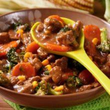 Picadinho de carne com legumes maravilhoso