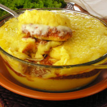 Aposte nessa polenta de carne moida recheada com Catupiry®! Uma receita deliciosa e todos amam!