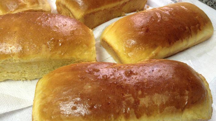 Pão de mandioca e abóbora  maravilhoso