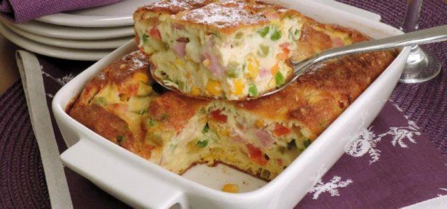 Omelete-suflê de forno (Receita fácil e deliciosa)