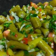 Salada de Quiabo Delicia Verde