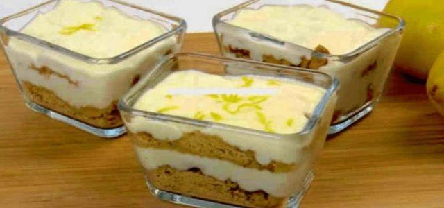 Saiba como fazer uma sobremesa de limão com bolachas Maria em 5 minutos e sem forno!
