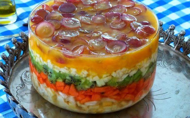 Salada de Frutas em Camadas