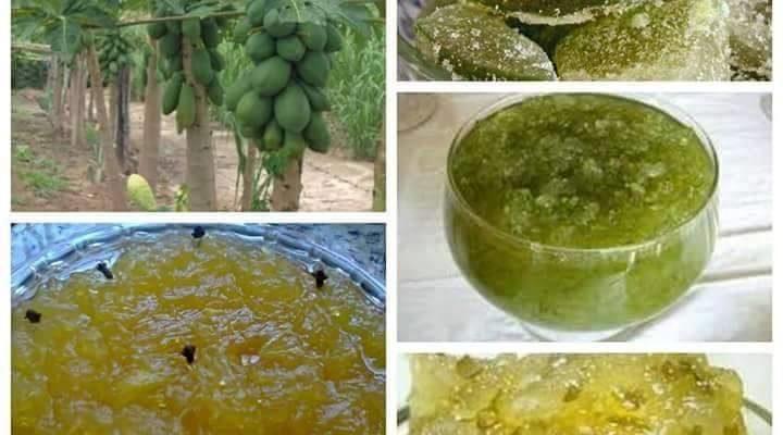 02 Receitas daqui da Roça de doce de Mamão Verde