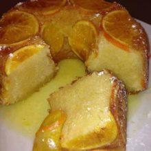 Delicioso Bolo de Laranja com Calda de laranja