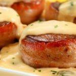 Bolinhos de Carne ao Creme de Cogumelos