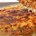Linguiça e batata aos  queijos maravilhosos