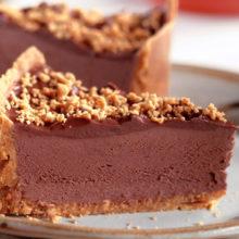 Torta de Paçoquinha com Chocolate