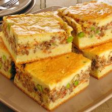Torta de carne moída deliciosa