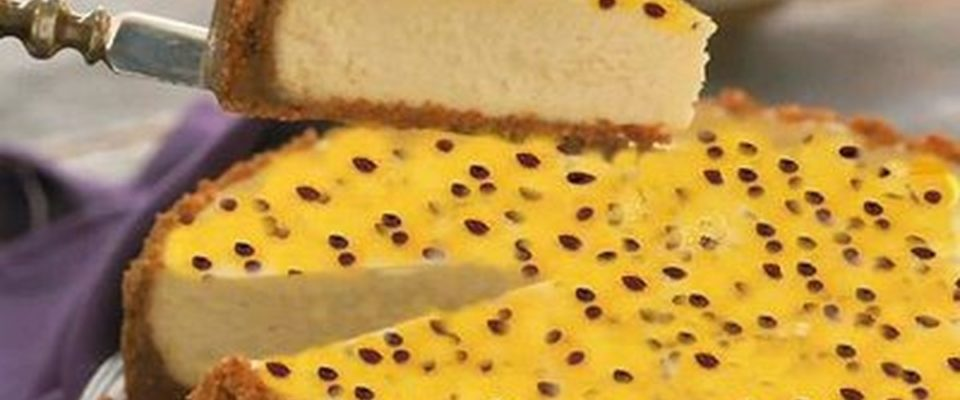 Torta-Brigadeiro de Chocolate Branco e Maracujá
