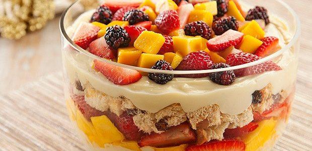 Pavê de Salada de Frutas