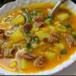 Sopa de Carne com Grão-de-Bico